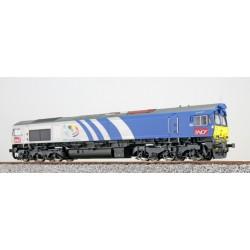 ESU H0, SNCF Fret 6603, grau-blau, DC/AC