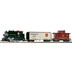 PIKO G Boîte de départ Pennsylvania Railroad - Loco + 2 wagons marchandises