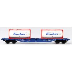 "B-MODELS set de 2 wagons porte containers ""AAE Cargo"""