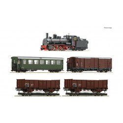 ROCO 5 piece train set: Steam locomotive 399.06 with mixed passenger train, ÖBB