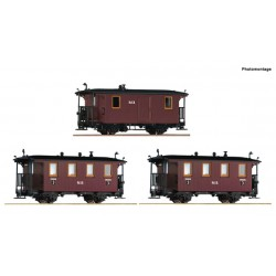 3 piece set: Passenger coaches, RüKB