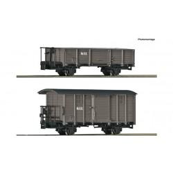 2 piece set: Goods wagons, RüKB