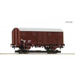 Roco Chariot de roulement et wagon de marchandises couvert