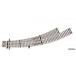 ROCO - Aiguillage courbe gauche BWl3/4