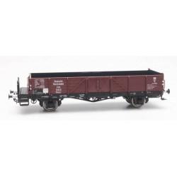 """ARTITEC H0 Wagon plat Ommr 32 """"Linz"""" avec bords hauts et plateforme."""