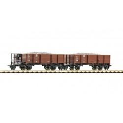ROCO H0e Boite: Wagons à ballast DR 2pcs