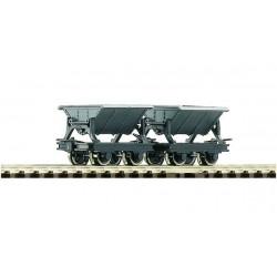 ROCO H0e Boite: 2 wagonnets à benne basculante