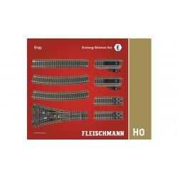 FLEISCHMANN Coffret de rails E- Branchement trois voies