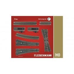 FLEISCHMANN Coffret de rails F - Quai de gare