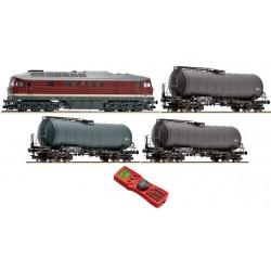ROCO TT Digital Set: locomotive series 132 + citernes DR