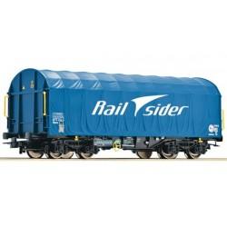 ROCO Wagon à bâche coulissante Rail Sider