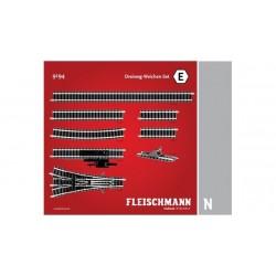 FLEISCHMANN Kit d'aiguillages triples. Boite  E