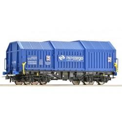 ROCO Wagon à capots téléscopiques. PKP, blau