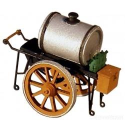 ARTITEC  Charette avec fût d'huile
