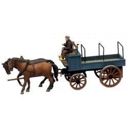 ARTITEC  Charriot ouvert et attelage de chevaux