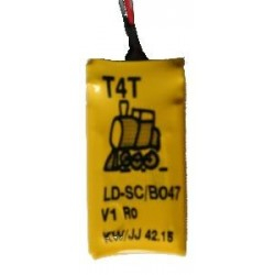 T4T Condensateur B0047 pour décodeur LD-1x (Cap. 470 µF/5,4 V dim. 28,5x15x4mm)