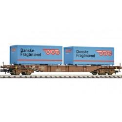 FLEISCHMANN Wagon porte container type Sgns, DSB