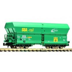 """FLEISCHMANN Wagon autodéchargeur type Falns """"SEA-rail"""", SNCB/xpedys"""