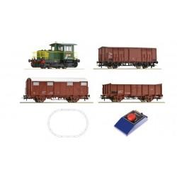 ROCO Coffret analogique avec une locomotive D214 et train de marchandises
