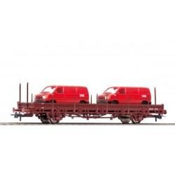 ROCO Wagon à ranchers avec deux VW T5 des DSB