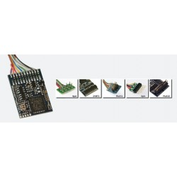 ESU LokPilot V4.0 M4, Multiprotocol MM/DCC/SX/M4, 6-pin plug NEM651,  cable