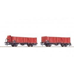 ROCO Coffret de deux wagons de marchandises découverts, CSD