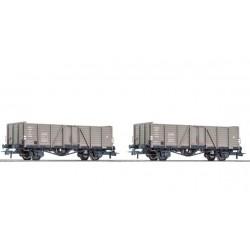 ROCO Coffret de deux wagons de marchandises découverts, CFL