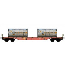 "B-MODELS set de 2 wagons porte containers ""TOUAX"""