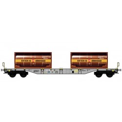 "B-MODELS set de 2 wagons porte containers ""HUPAC"""